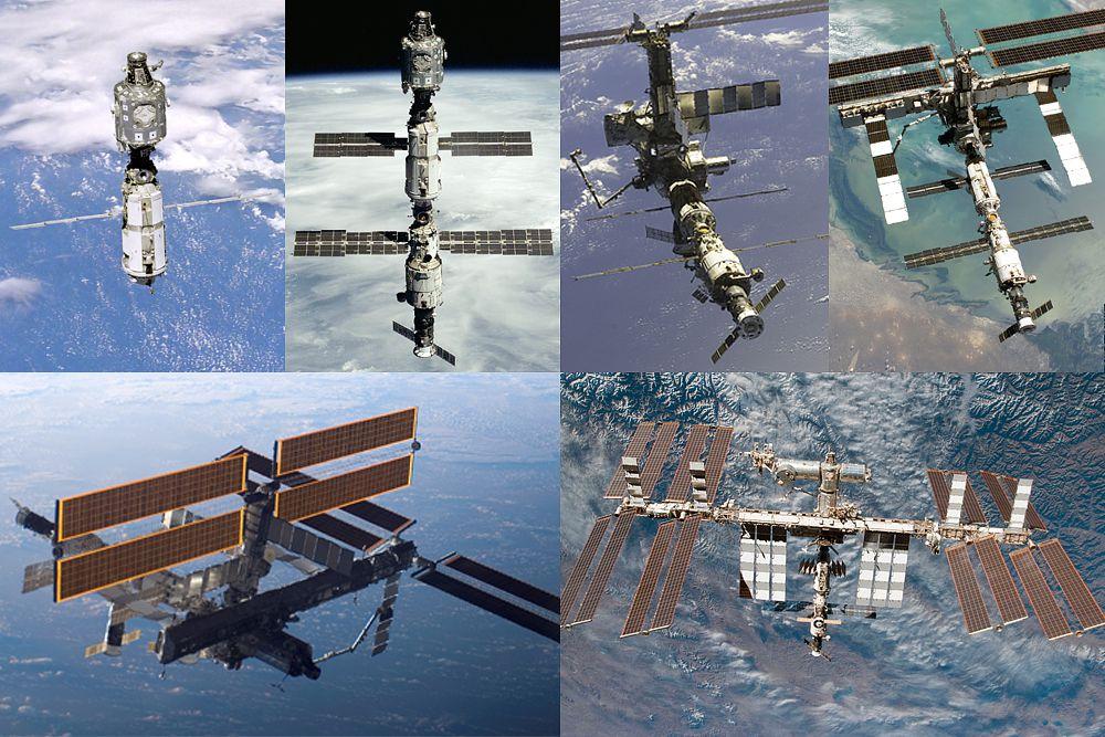 Эволюция МКС с 1999 года по 2015-й.