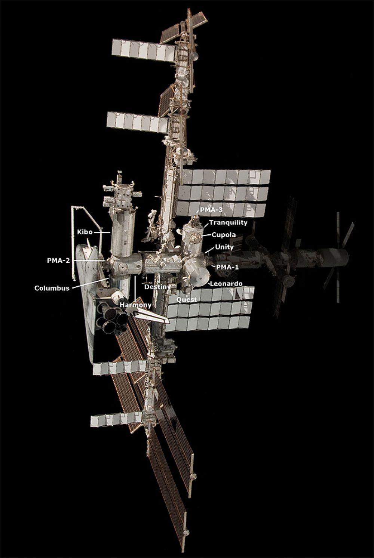 Конфигурация американского сегмента МКС на май 2011 года.