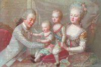 Павел I и Мария Федоровна с сыновьями Константином и Александром.
