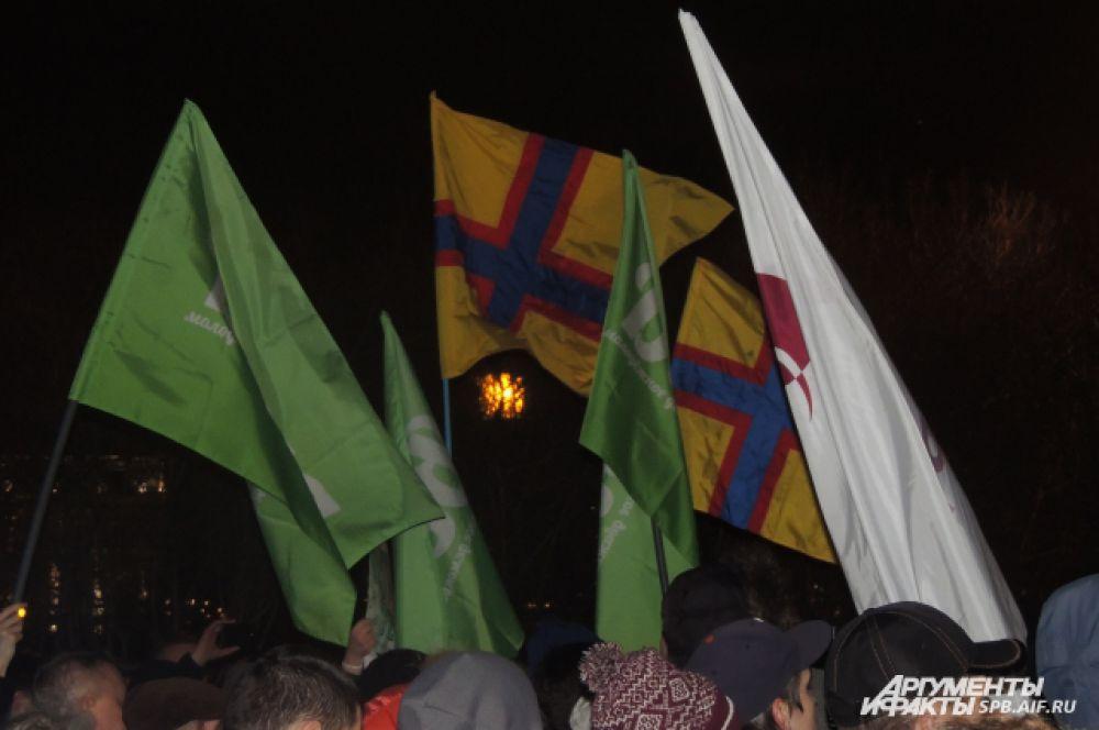 На митинге собрались представители «РПР-Парнас», «Партии 5 декабря» и движений «Ингрия» и «Весна».