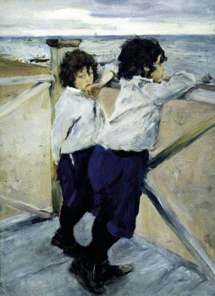 В 1887 году Серов женился на Ольге Федоровне Трубниковой. У пары  вскоре появились дети: Юра и Саша. Именно их художник изобразил на картине «Дети» (1899). В конце 1880-х художник написал портреты Софьи Драгомировой, композитора Бларамберга, Прасковьи Мамонтовой.