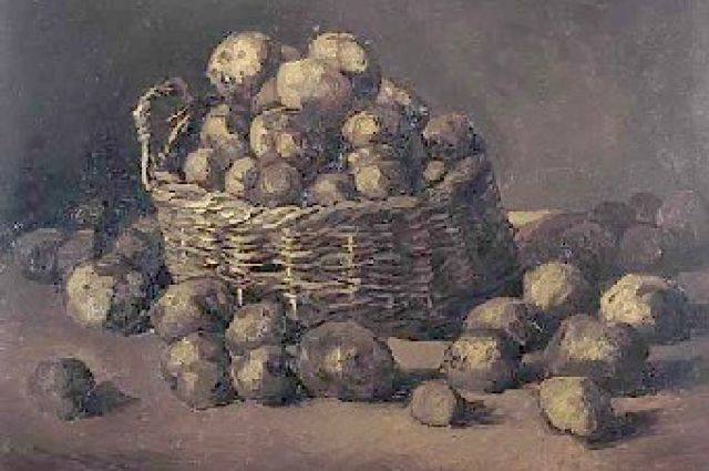 Винсент Ван Гог: Корзина картофеля (1885).