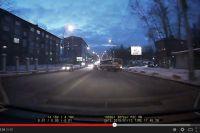 Гонки автобусов в Иркутске.