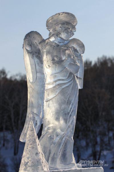 Традиционно иордань украшают скульптуры ангелов.