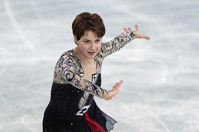 Ирина Слуцкая на Чемпионате мира по фигурному катанию 2005.