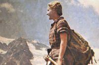 После первых успехов в альпинизме Машу Готовцеву сняли на фоне гор для популярного журнала.