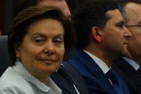 Губернатор Югры Наталья Комарова и губернатор Ямала Дмитрий Кобылкин.