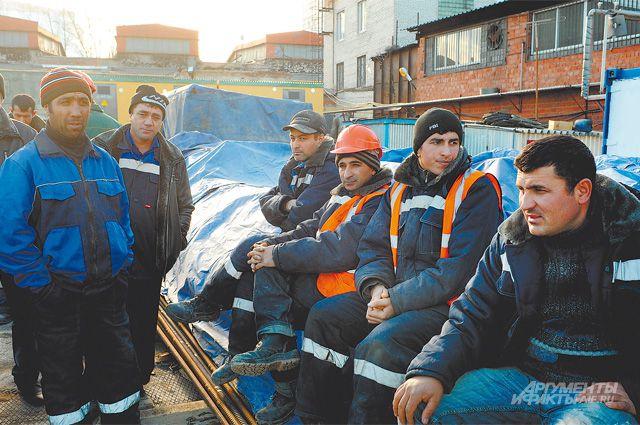 На 2,7 млн легальных иностранных рабочих приходится около 2,9 млн нелегалов.