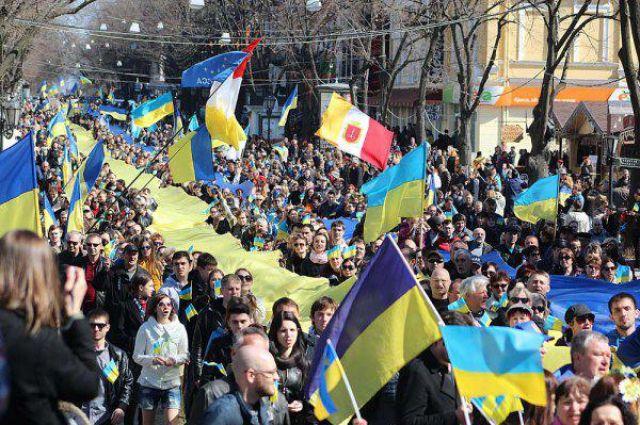 Митинг против войны в Одессе