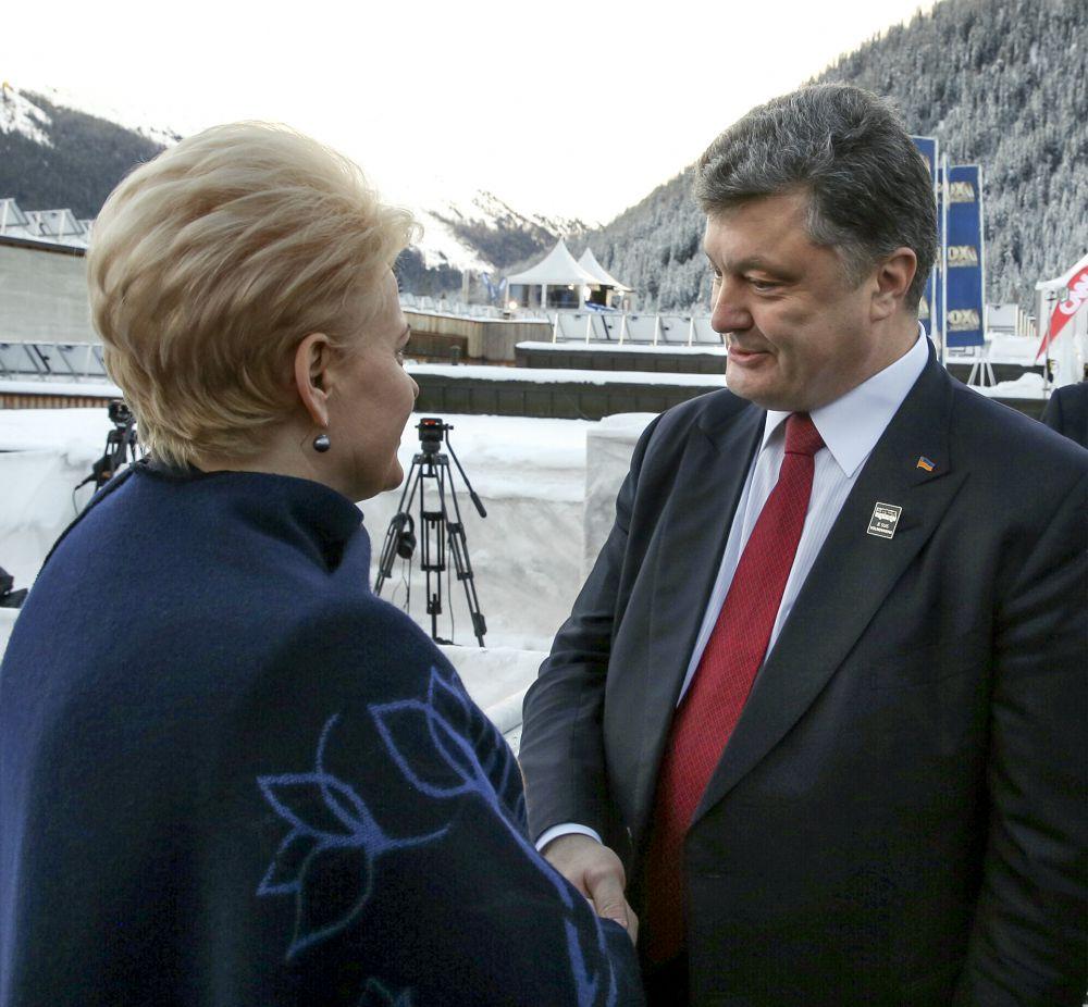 Петр Порошенко и президент Литвы Даля Грибаускайте