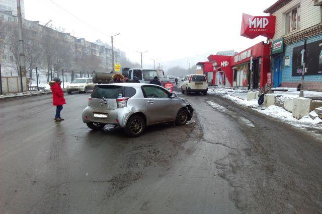 ДТП на ул. Жигура во Владивостоке