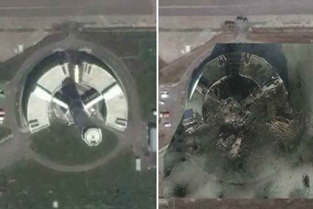 Диспетчерская вышка аэропорта была спосбна выдержать прямое попадание тяжелого пассажирского самолета, но военного натиска она выдержать не смогла.