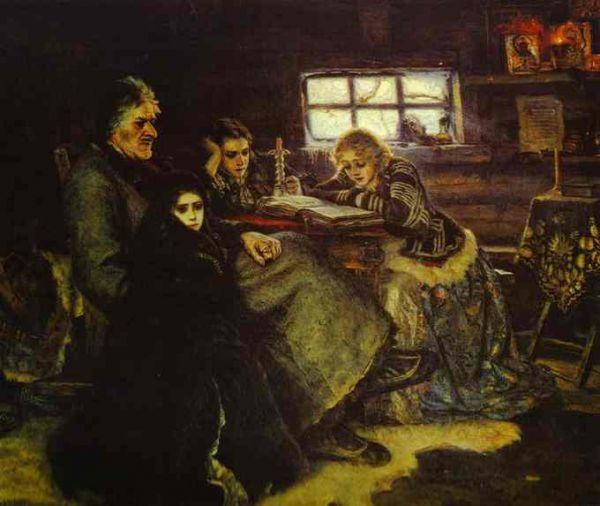 Суриков в своем творчестве продолжает обращаться к историческим темам и в 1883 году создает еще одно многофигурное полотно «Меншиков в Березове». Меншиков, сосланный Петром II в ссылку в Березово, изображен художником сидящим за столом с детьми, символизирующими смену поколений. Картину приобрел Третьяков, и на вырученные деньги Суриков смог совершить поездки в Германию, Италию, Францию, Австрию и познакомиться с работами зарубежных художников.