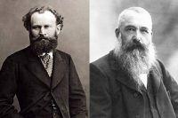 Эдуард Мане (слева) и Клод Моне (справа).