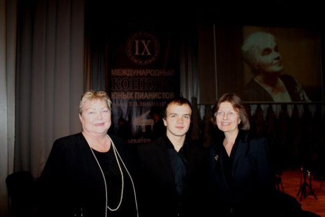 Людмила Урусова (слева) со своим воспитанником Родионом Шемереко.