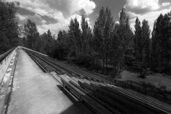 Стадион «Авангард» в Припяти.
