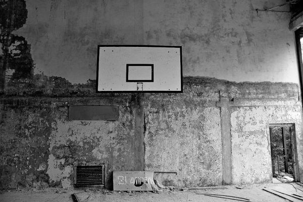 Баскетбольная площадка в Припяти.