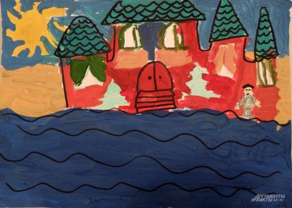 По мнению Фоминой Полины (8 лет) каждый уважающий себя чиновник должен иметь дом на берегу моря. Хотя бы такой.