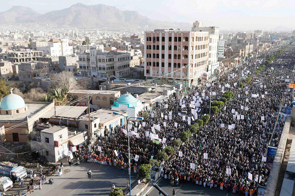 23 января. Демонстрация в Сане в поддержку шиитских повстанцев, которые устроили в Йемене государственный переворот.