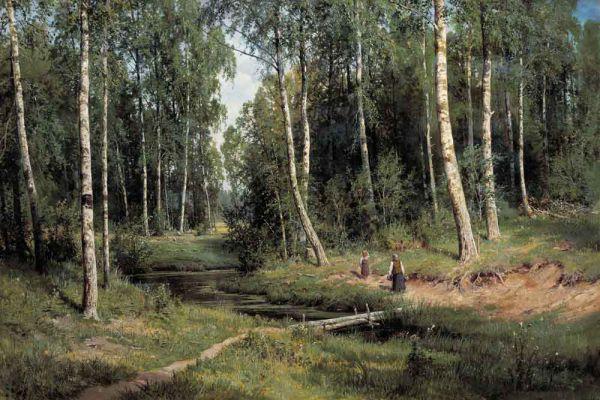«Ручей в берёзовом лесу», 1883 год.