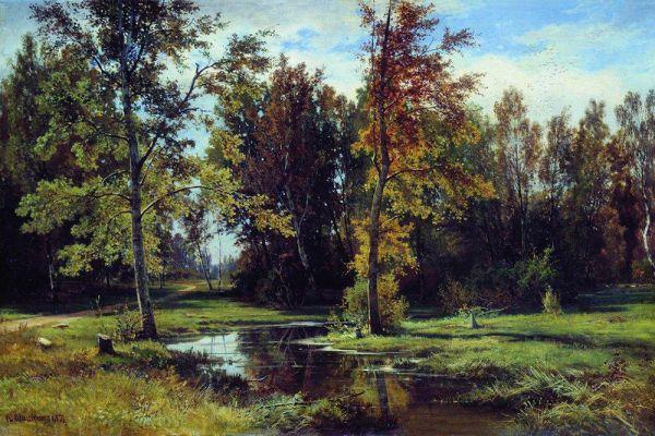 «Берёзовый лес», 1871 год.