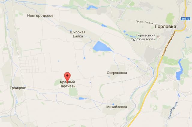 Красный Партизан на карте Google