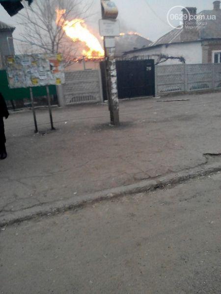 Последствия обстрела в Мариуполе