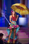 Стоит отметить, что победительницей конкурса национального костюма стала Эльвира Девинамира из Индонезии. Она рассказала, что ее костюм весит 20 кг.  Россиянка Юлия Алипова не смогла пробиться в число 15 финалисток.