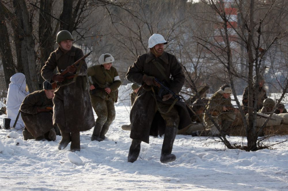 Решающий бросок войск Красной армии на врага.