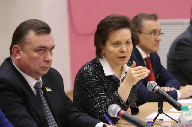 Наталья Комарова во время визита в Нижневартовск.