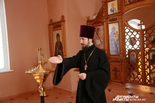 Отец Владислав, настоятель храма Воскресения Христова, расположенного на территории крематория