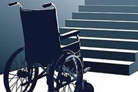Лестница - преграда для инвалида.