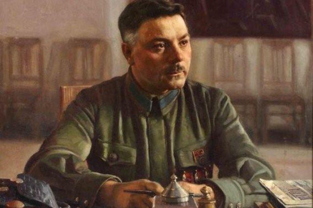 И. Бродский. Портрет Климента Ворошилова в кабинете, 1929 г.