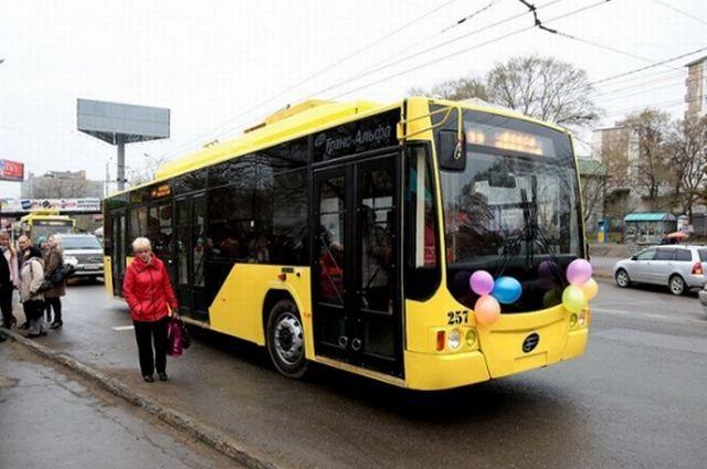 Современный троллейбус Владивостока