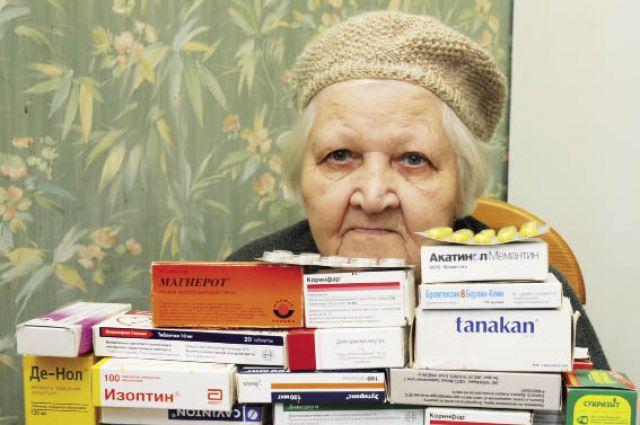 Медикаменты съедают треть пенсии.