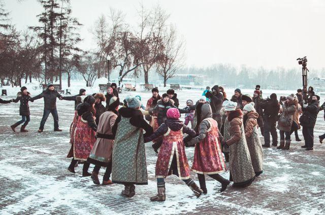 Флешмоб «Глобальный ёхор» в Иркутске.