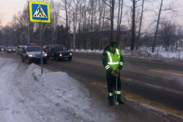 Проверка пешеходных переходов в Шелеховском районе.
