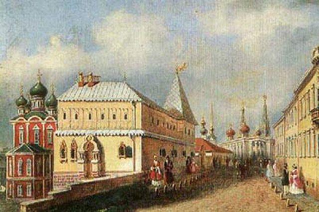 Варварка и палаты бояр Романовых в XIX в.