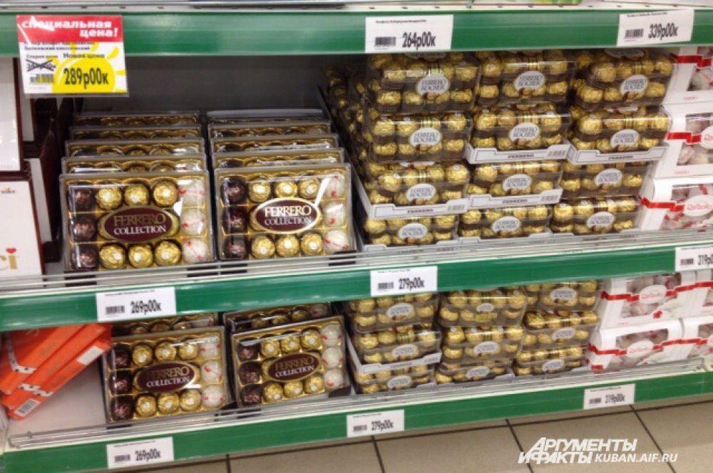 ТОП-10 самых дорогих продуктов. 6-е место: заморские конфеты от 250 рублей за коробку.