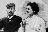 Антон Павлович Чехов и Ольга Леонардовна Книппер, 1902 год.