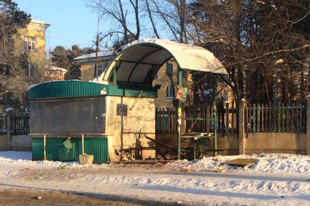 Место взрыва в Ангарске.
