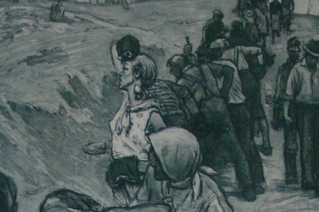 Фрагмент работы Юрия Непринцева из серии «Рассказы о Ленинграде». 1941 год.