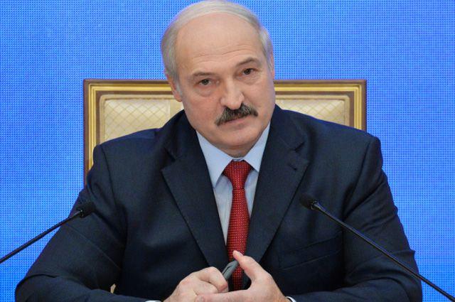Президент Белоруссии Александр Лукашенко во время пресс-конференции для представителей белорусских и зарубежных СМИ.