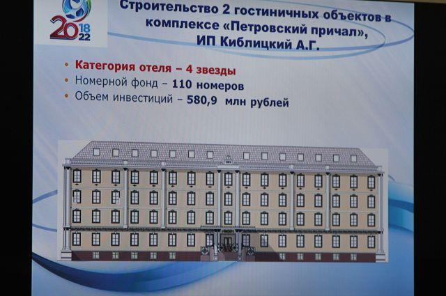 Инвестор «Петровский причал» заморозил проект по строительству гостиницы к ЧМ-2018