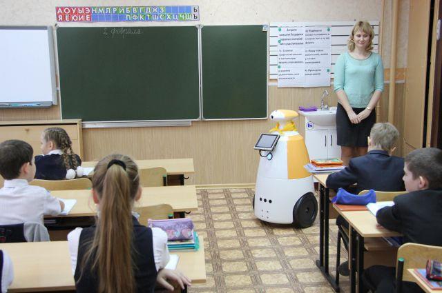 Степан на первом уроке.