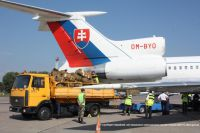 Самолет с флагом Словакии