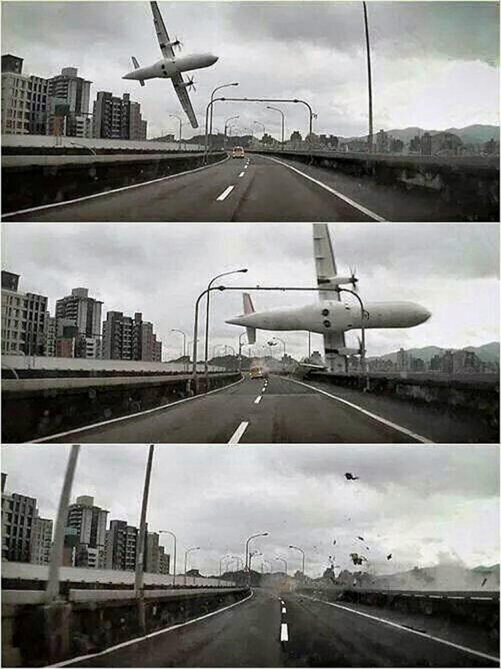 Турбовинтовой самолет ATR 72-600, на борту которого находилось 53 человека (включая пассажиров и членов экипажа), упал в реку недалеко от столицы Тайбэя через несколько минут после взлета из аэропорта, задев крылом автомобильную эстакаду и машину такси на ней. Самолет совершал внутренний рейс из Тайбэя на острова архипелага Цзиньмэнь.