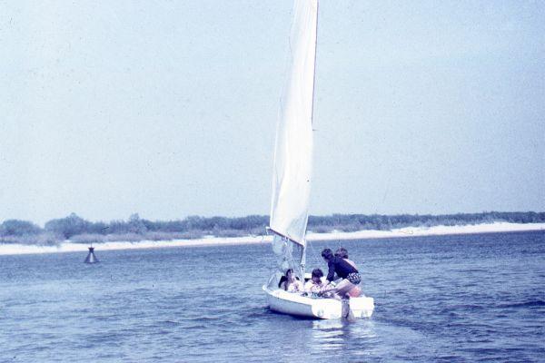 Яхта на реке Припять.