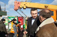 Кличко инспектирует демонтаж МАФов
