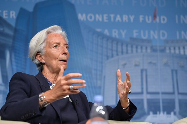 Директор-распределитель МВФ Кристин Лагард.